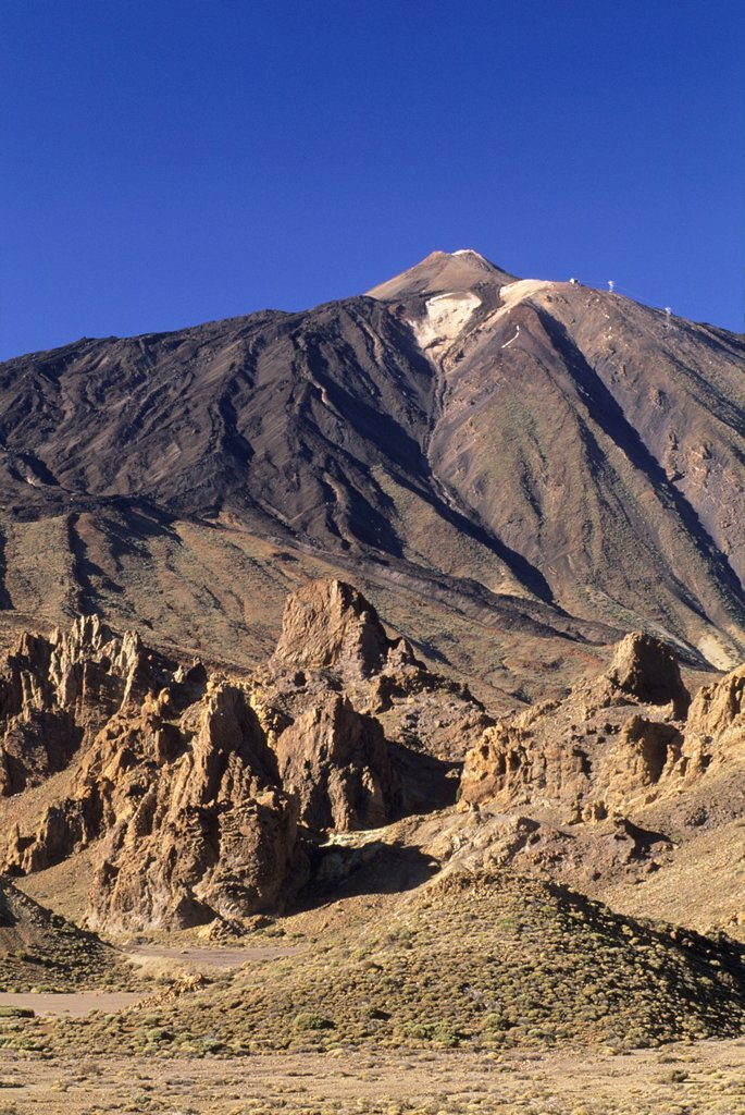 Stock Photo: 1566-1198090 Roques de Garcia, Caldeira de las Canadas, Mount Teide, National Park, Tenerife, Canary Islands, Atlantic Ocean
