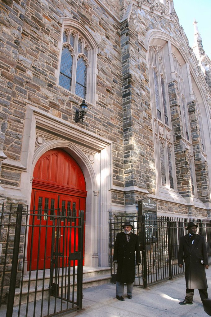 Stock Photo: 1566-1198392 New York City, the Abyssinian Baptist Church, Harlem, Uptown Manhattan