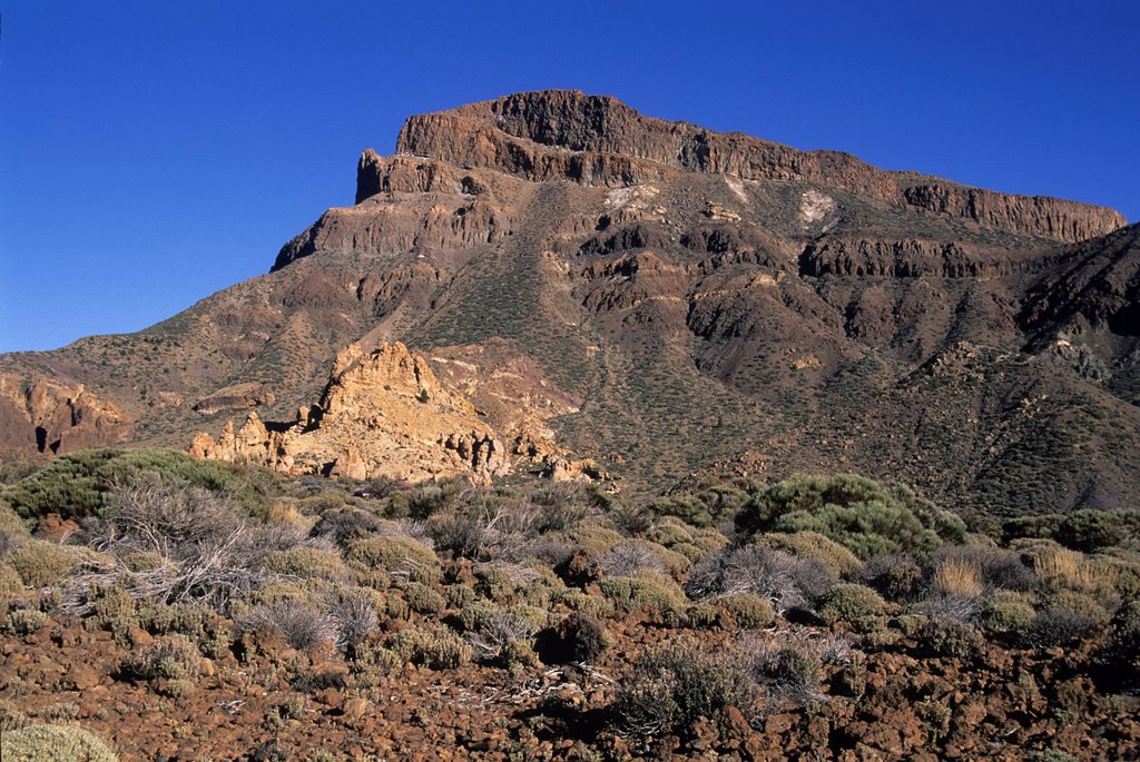 Stock Photo: 1566-1198504 Caldeira de las Canadas, Mount Teide, National Park, Tenerife, Canary Islands, Atlantic Ocean