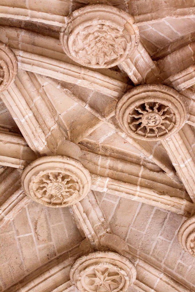 Detalle de claves, Catedral de Santa María de Segovia : Stock Photo