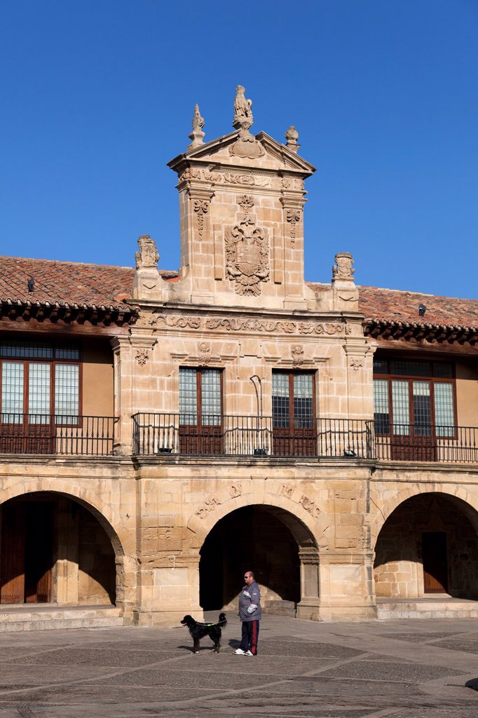 City hall of Santo Domingo de la Calzada, La Rioja, Spain : Stock Photo