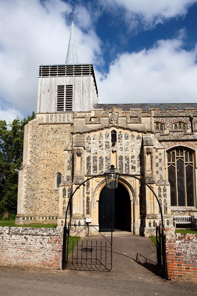 Church of St Mary Magdelene at Bildeston Suffolk England : Stock Photo