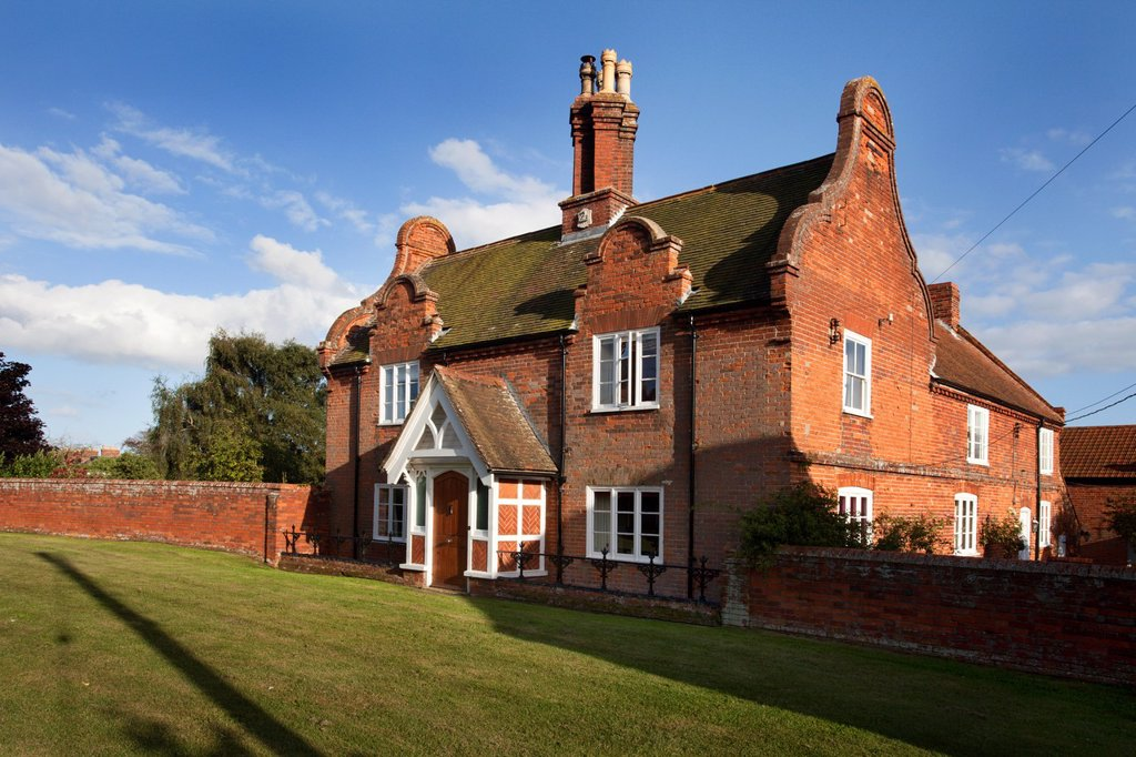 Stock Photo: 1566-1201107 Imposing Red Brick House in Orford Suffolk England