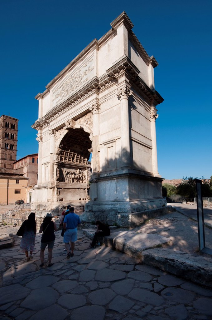 Stock Photo: 1566-1201696 Italy, Lazio, Rome, Arco Di Tito, Arch of Titus