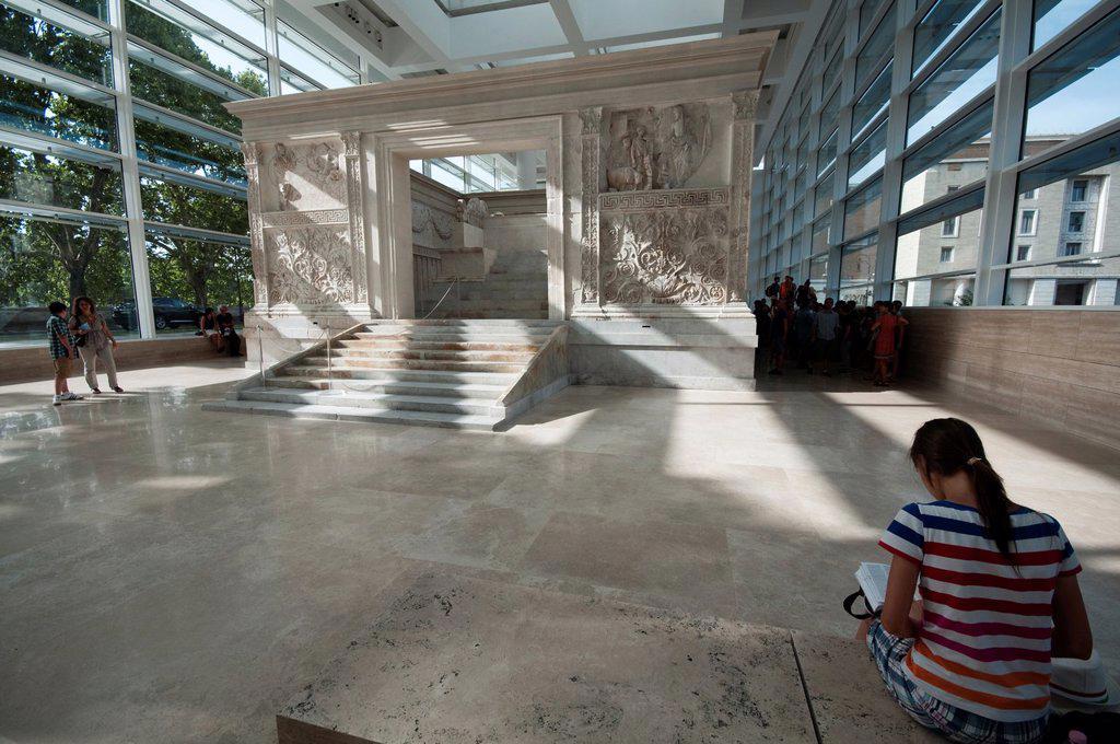Italy, Lazio, Rome, Ara Pacis art Center : Stock Photo