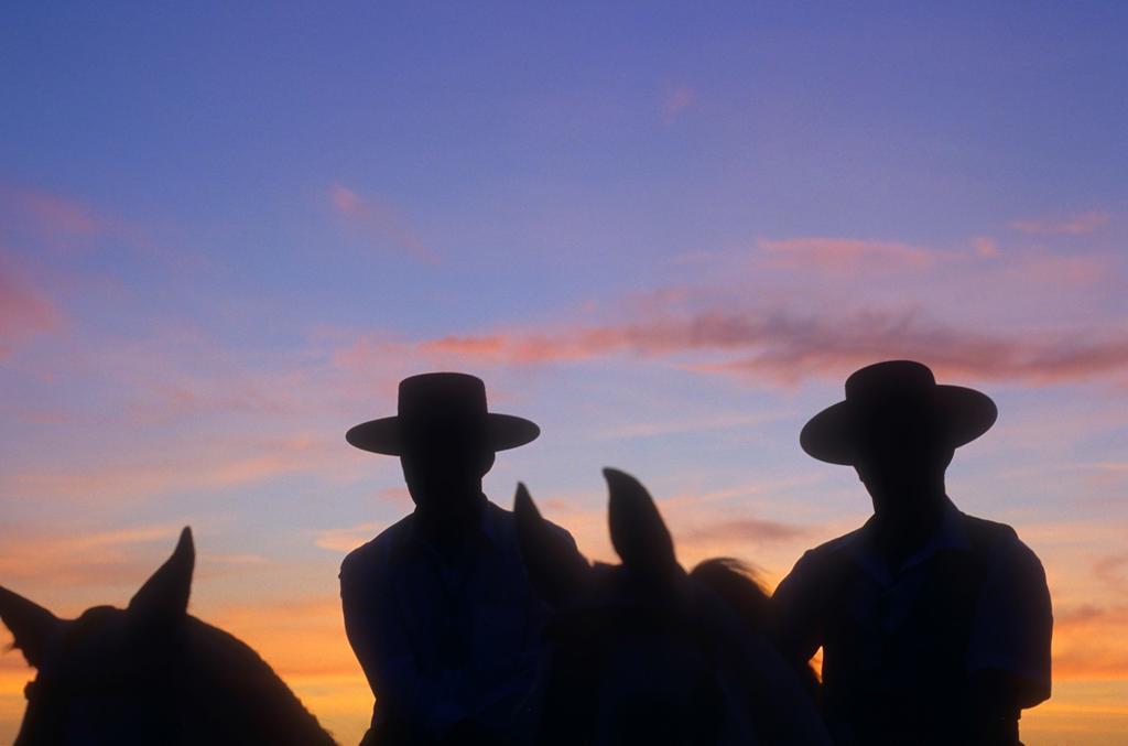 Stock Photo: 1566-1202195 El Rocío Romería pilgrimage ,`Romeros´Pilgrims at El Rocio, Almonte, Huelva province, Andalucia, Spain,
