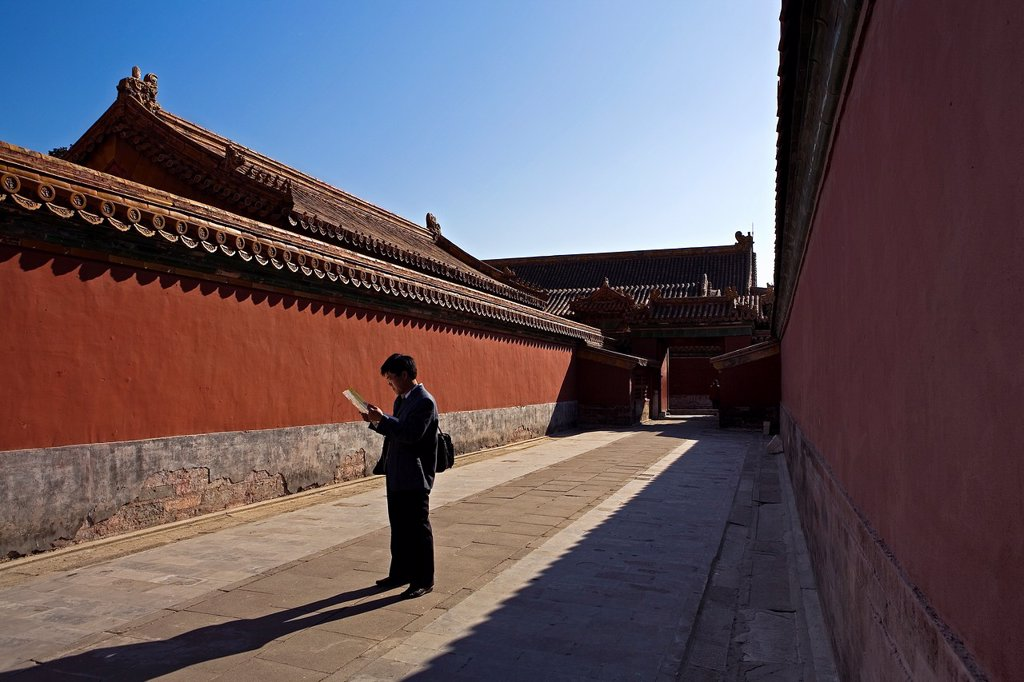 Stock Photo: 1566-1202200 Tourist  Alley in Forbidden City,Beijing, China