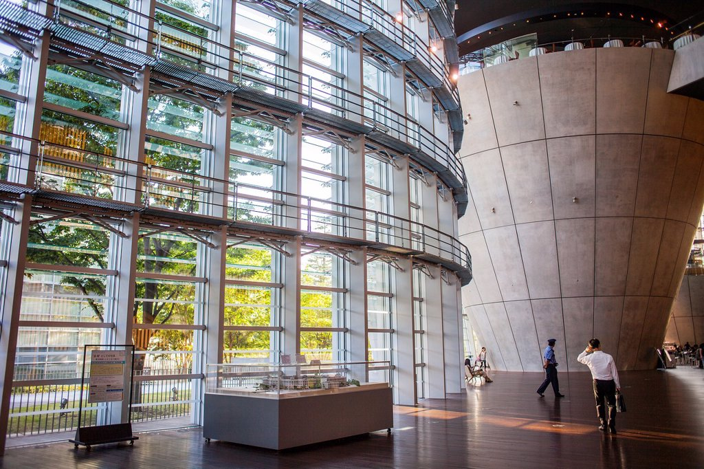 Stock Photo: 1566-1202644 Interior of National Art Center, Tokyo, Japan