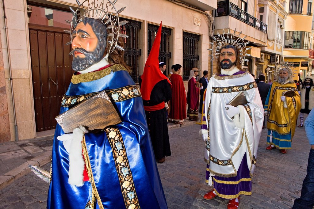 `Figuras´ Holy Week  Easter Sunday Puente Genil  Córdoba province  Spain : Stock Photo