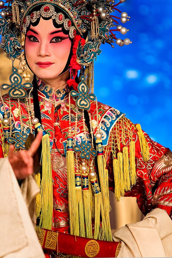 Pekin opera show  Laoshe Teahouse  Nº3 Qianmen Avenue West,Beijing, China : Stock Photo