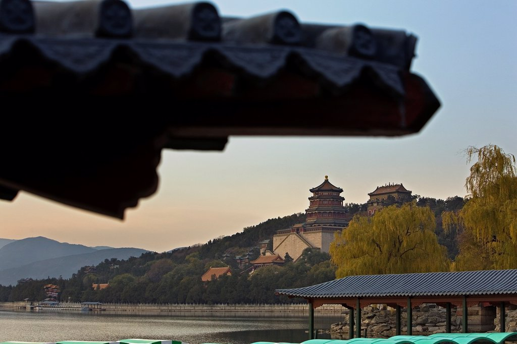 Summer Palace, in Kunming lake,Beijing, China : Stock Photo