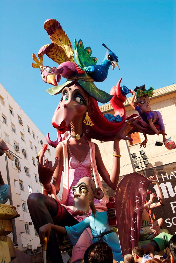 Stock Photo: 1566-1202728 Fallas, Plaza del Pilar, Valencia