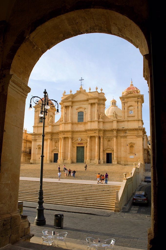 Stock Photo: 1566-1202893 Restored Baroque Cathedral of San Nicolo - Noto, Sicily
