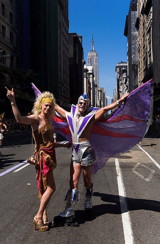 Stock Photo: 1566-1203305 Annual parade of the pride Gay Fifth Avenue New York City, USA