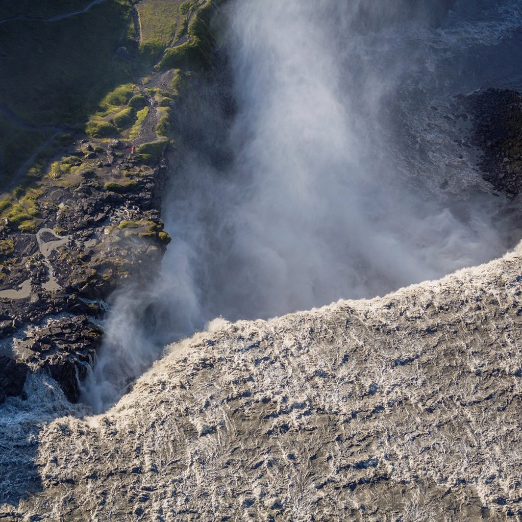 Dettifoss Waterfall, Jokulsargljufur canyon, Iceland Dettifoss is a waterfall in Jokulsargljufur canyon, Northeast Iceland, and is reputed to be the most powerful waterfall in Europe : Stock Photo