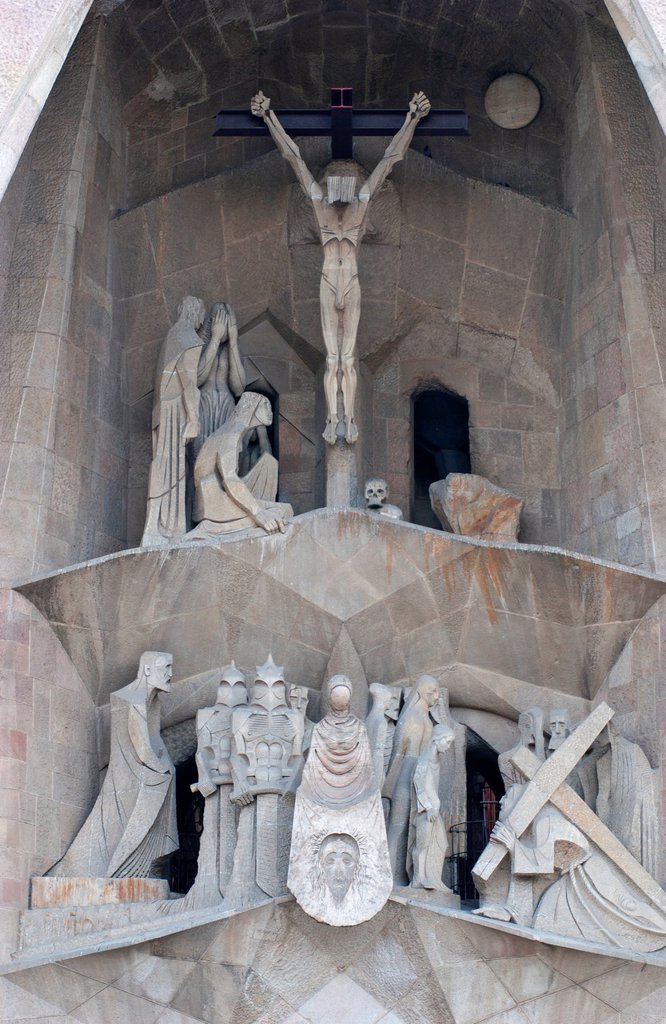 Stock Photo: 1566-1204346 Architectural detail of the Sagrada Familia - Basilica and Expiatory Church of the Holy Family, Barcelona, Catalonia, Spain, Europe