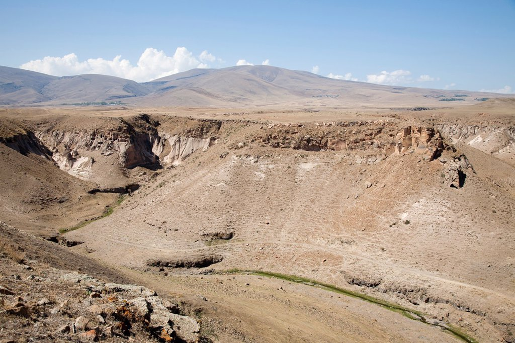 Stock Photo: 1566-1204893 landscape from ani ruins, kars area, north-eastern anatolia, turkey, asia