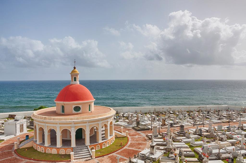 Stock Photo: 1566-1205586 Cementerio de Santa Maria Magdalena de Pazzis, a cemetery in old San Juan, Puerto Rico