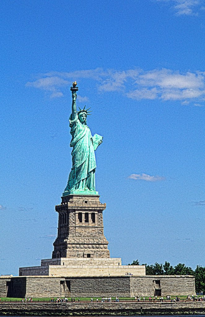 Stock Photo: 1566-1205930 The beauty of the famous Statue of Liberty on Ellis Island in New York City USA