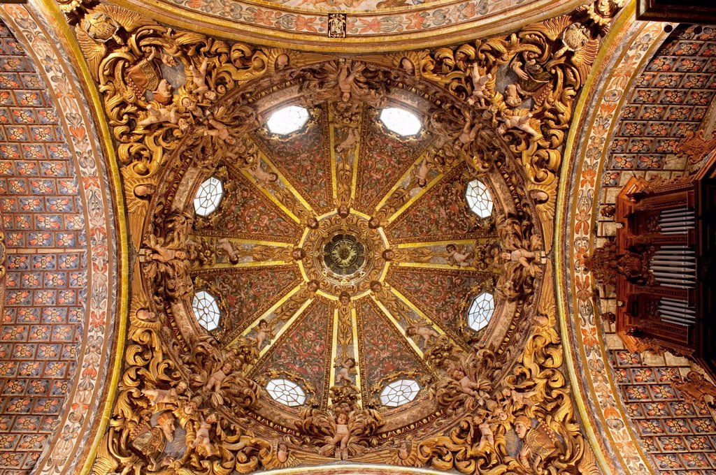 Dome of the church Santo Domingo, Orihuela  Alicante province, Comunidad Valenciana, Spain : Stock Photo