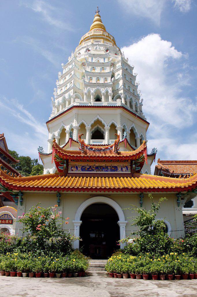 Stock Photo: 1566-1208216 Ban Po Tha Pagoda 10000 Buddhas, Kek Lok Si Temple complex, Penang, Malaysia.