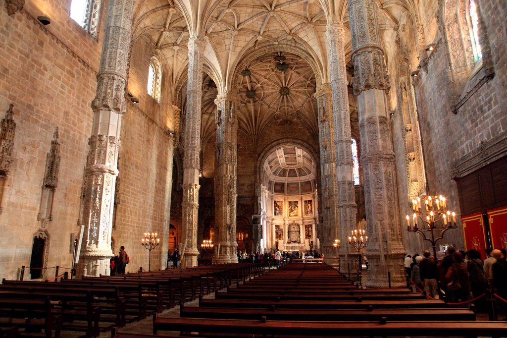 Stock Photo: 1566-1209264 Dos Jeronimos Monastery Interior, Lisbon, Portugal, Europe
