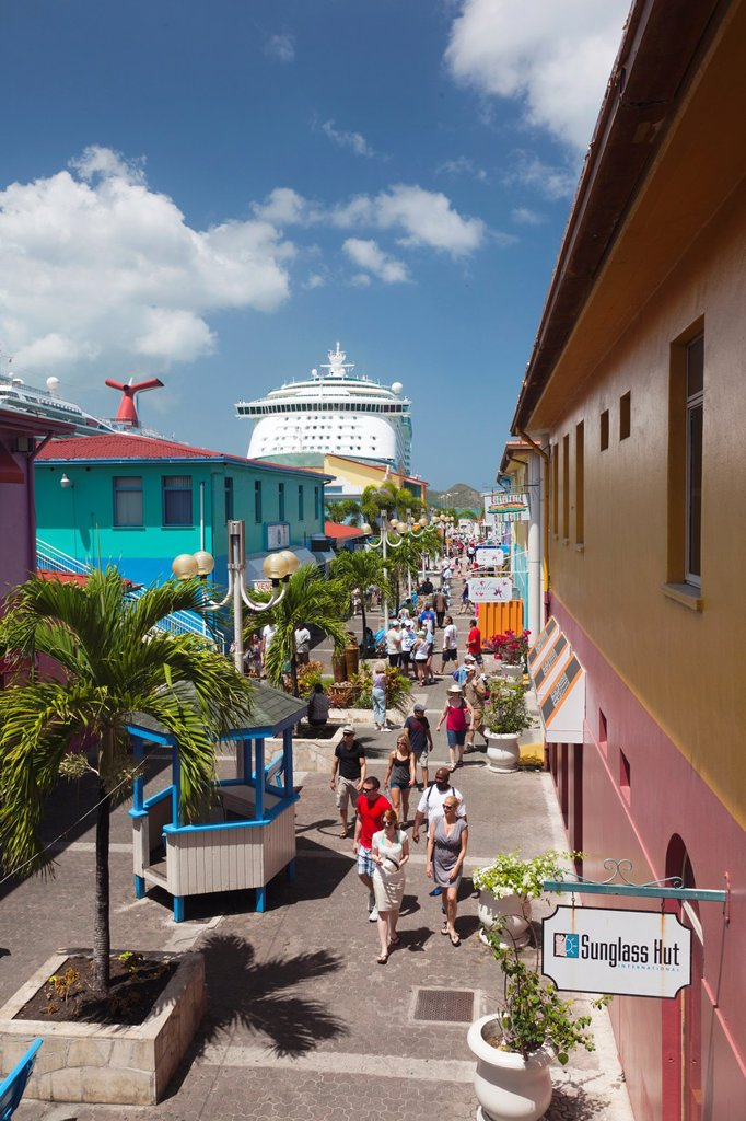 Stock Photo: 1566-1209372 Antigua and Barbuda, Antigua, St  Johns, Heritage Quay, Cruiseship terminal shopping area, NR