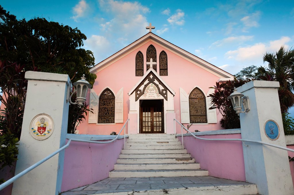 Bahamas, Eleuthera Island, Harbour Island, Dunmore Town, St, Johns Anglican Church : Stock Photo