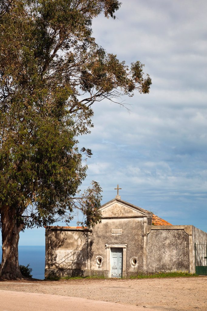 France, Corsica, Corse-du-Sud Department, Calanche Region, Piana, roadside chapel : Stock Photo