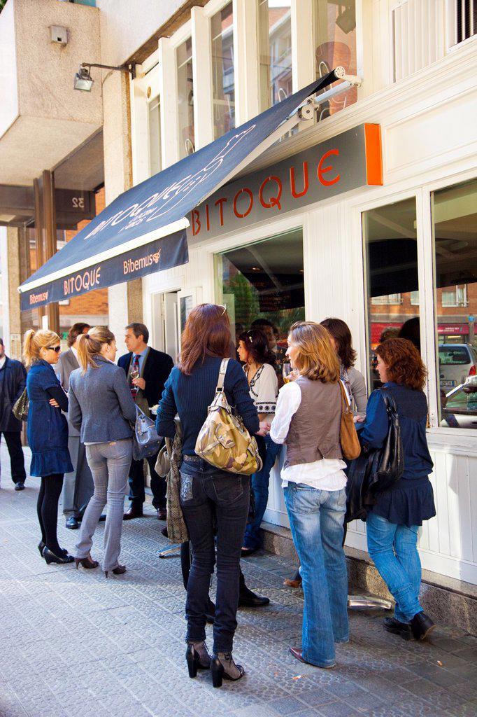 Stock Photo: 1566-1212387 Bar Bitoque. Snack bar. Bilbao. Bilbo. Bizkaia. Vizcaya. Pais Vasco. Euskadi. Basque Country. Spain. www bitoque es.