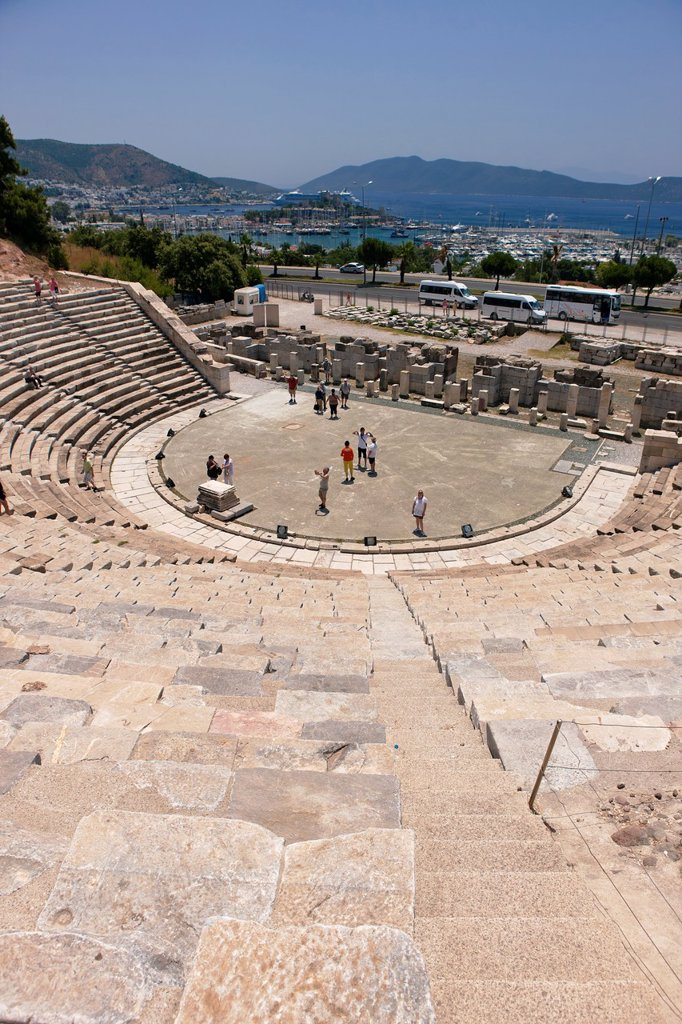 Stock Photo: 1566-1212651 Ancient Theater  Bodrum, Mugla province, Turkey