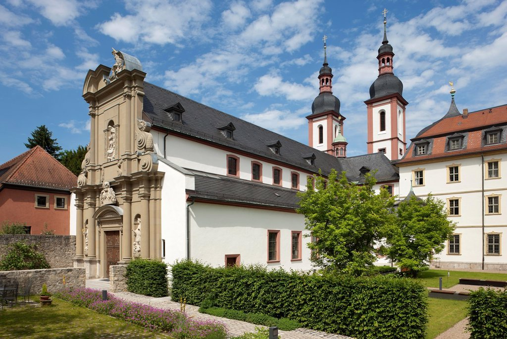 Monastery of Oberzell, Church from South West : Stock Photo