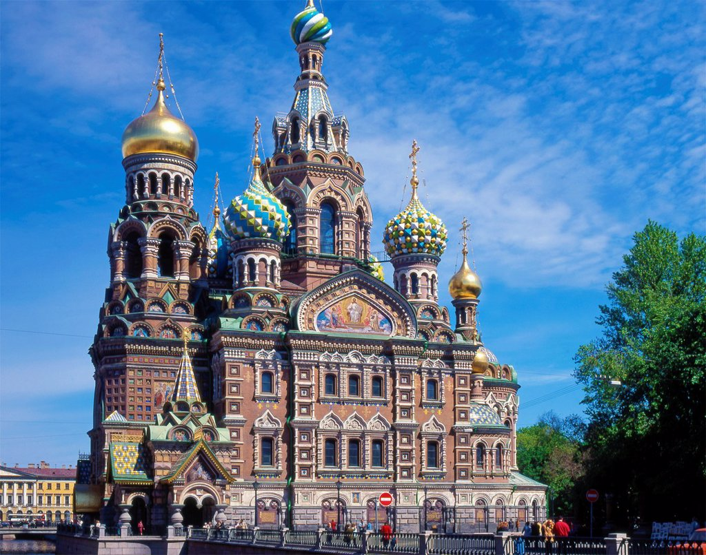 Stock Photo: 1566-1214332 Russia, St Petersburg, Church of the Resurrection of Christ,