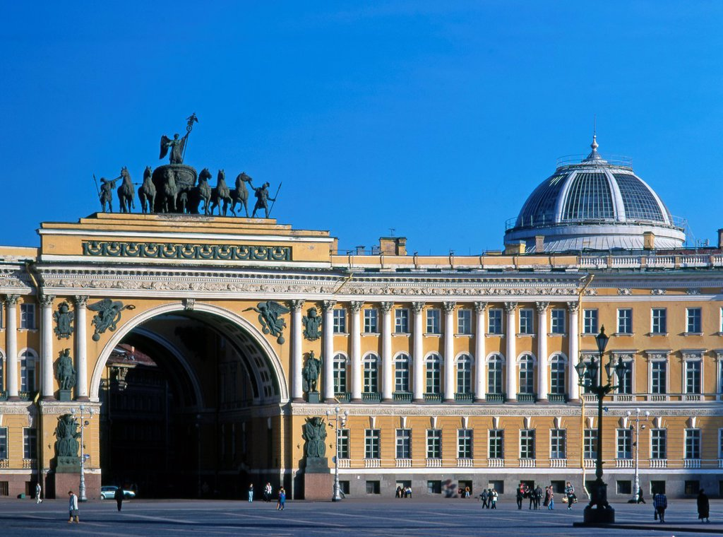 Russia, St Petersburg, Palace Square, : Stock Photo