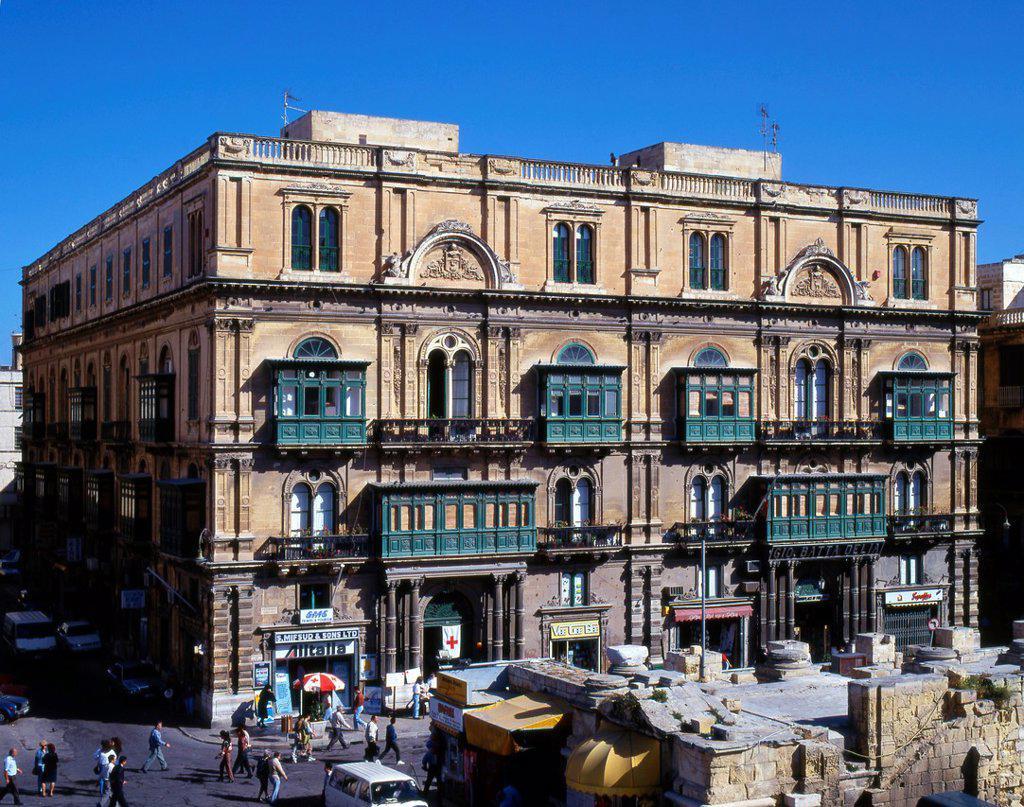 Stock Photo: 1566-1214363 Malta, Valletta, Francia Palace, Republic Street,