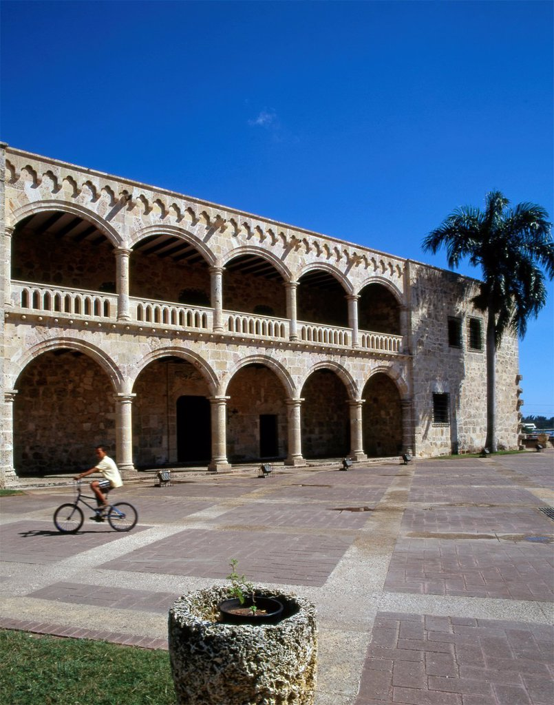 Dominican Republic, Santo Domingo, Alcazar de Colon, : Stock Photo