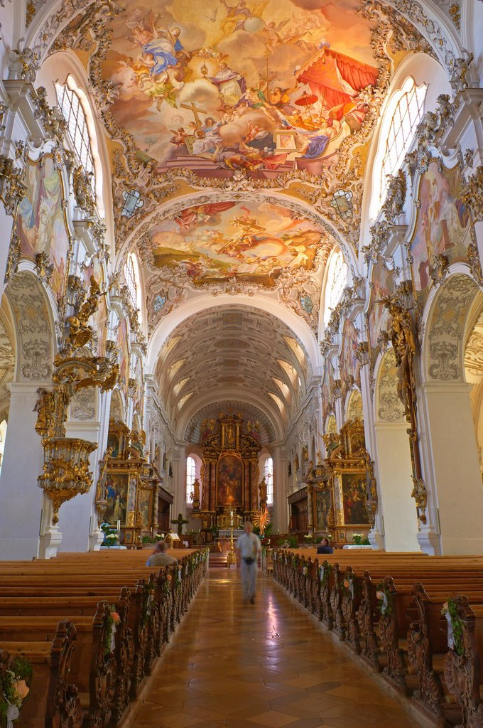 Stock Photo: 1566-1215600 Steingaden, Upper Bavaria, St  John the Baptist Abbey church, Bavaria, Germany.