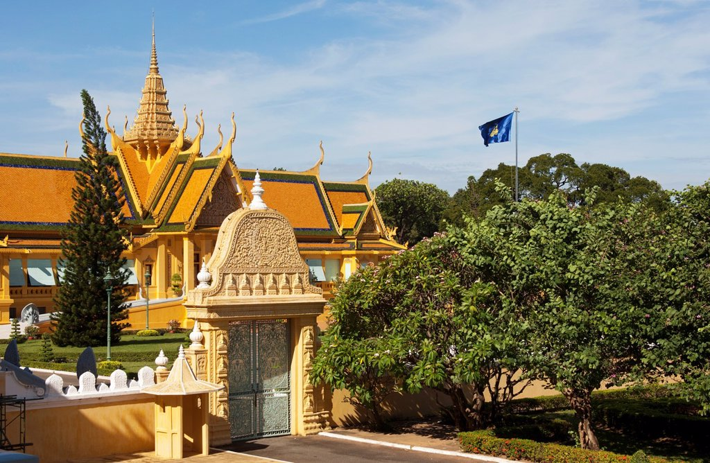 Stock Photo: 1566-1215636 Khemarin Palace Prasat Khemarin, residence of the King of Cambodia, Royal Palace, Phnom Penh, Cambodia