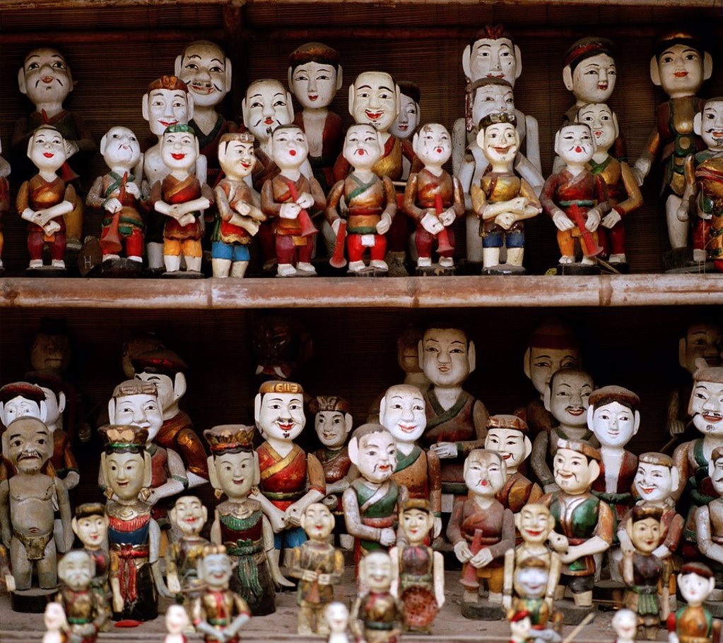 Stock Photo: 1566-1216846 Hanoi Water puppets in Hanoi in Vietnam