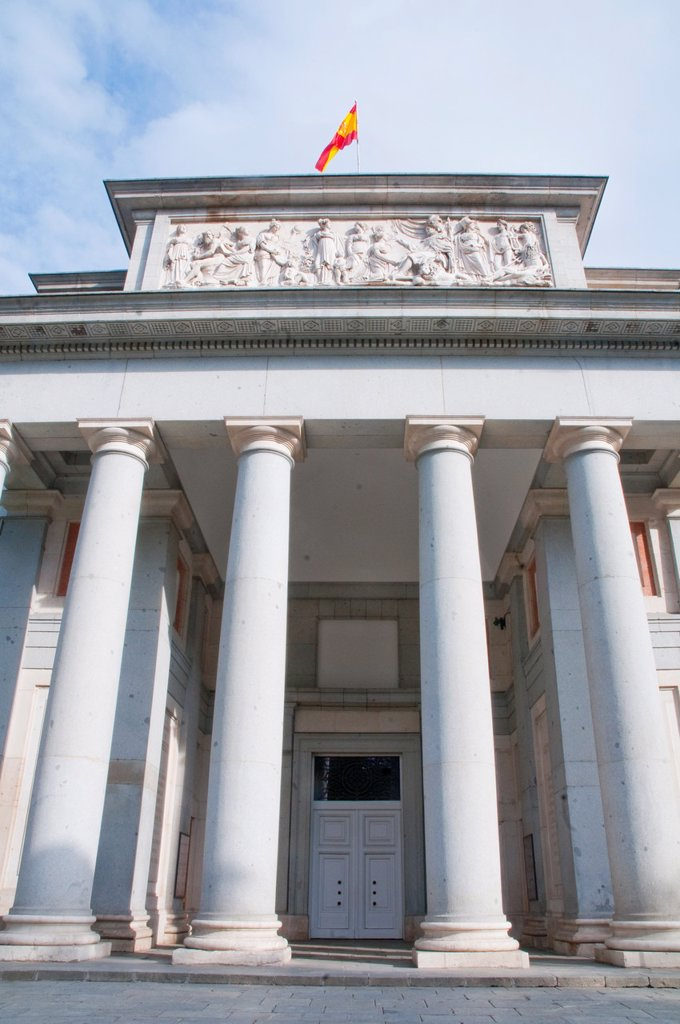 Stock Photo: 1566-1217787 Velazquez facade. The Prado museum, Madrid, Spain.