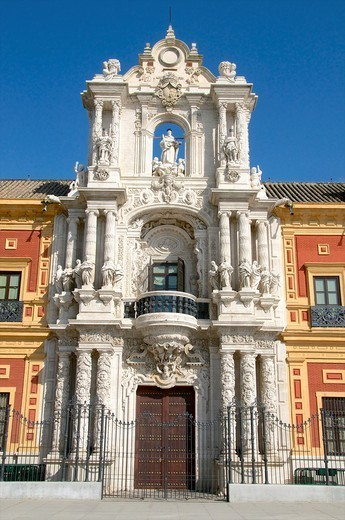 San Telmo Palace, facade, Sevilla, Andalusia, Spain : Stock Photo