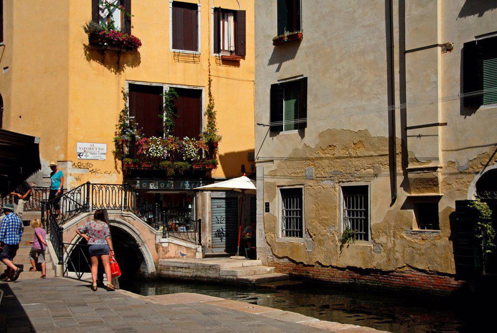 Stock Photo: 1566-1218502 Ponte del Megio  Sestier di Santa Croce  Venice, Veneto, Italy, Europe