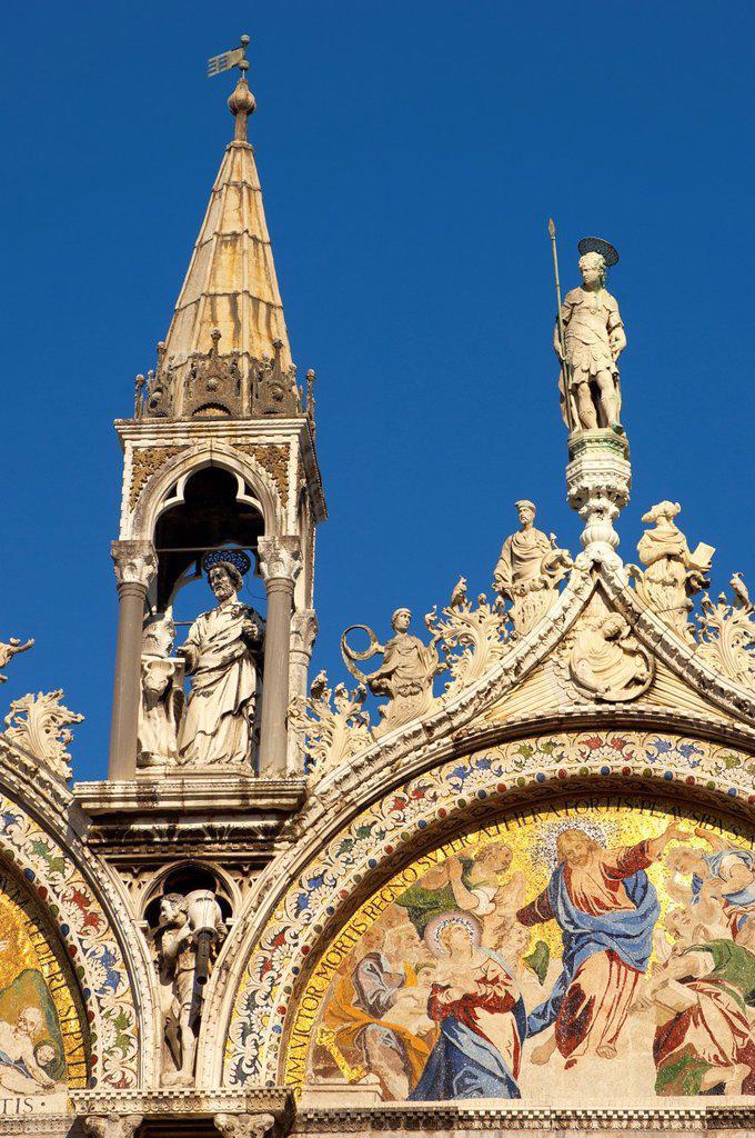 Stock Photo: 1566-1219508 Front of Saint Marks Basilica - Venice - Italy