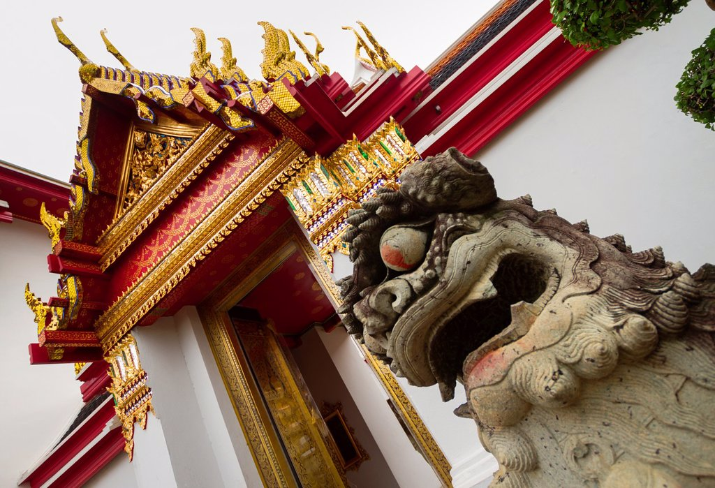 Stock Photo: 1566-1220645 Wat Pho temple  Bangkok, Thailand