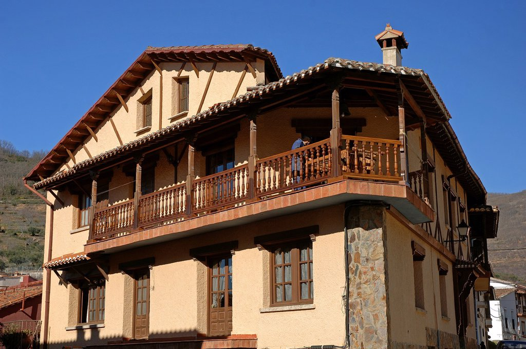 Stock Photo: 1566-1220836 Typical architecture, Pasaron de la Vera, Caceres-province, Spain,