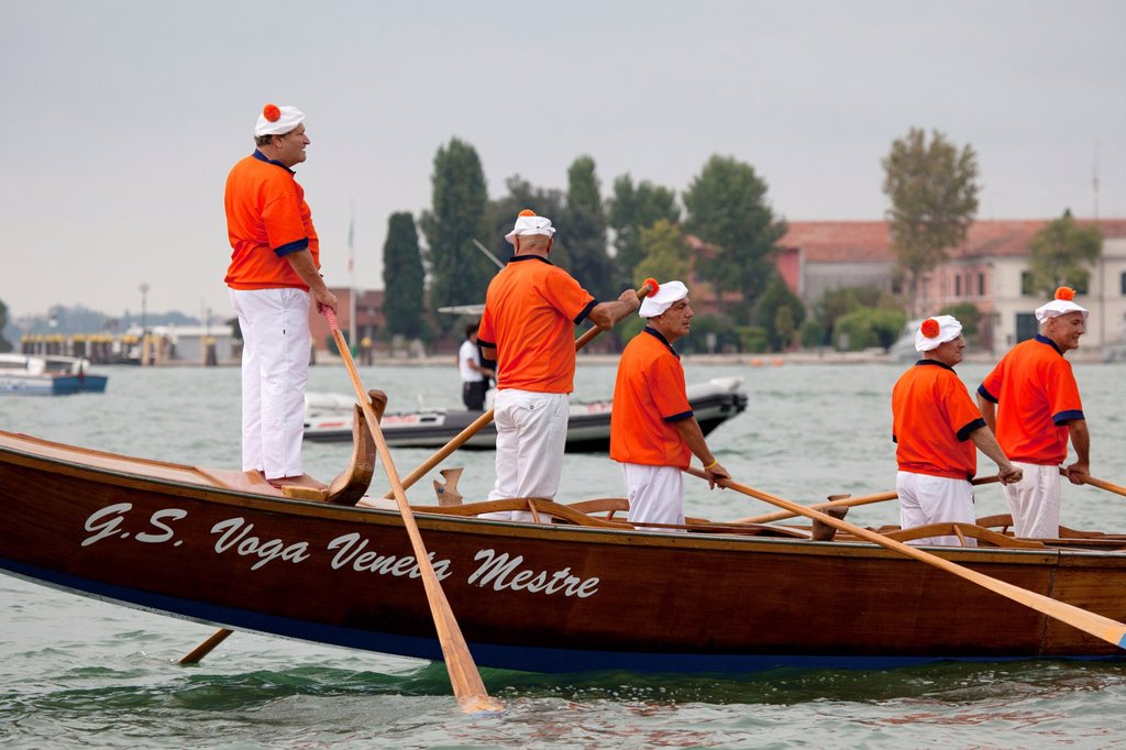 Stock Photo: 1566-1221001 Regata Storica di Venezia, the most important traditional event in Venice, Italy, Europe
