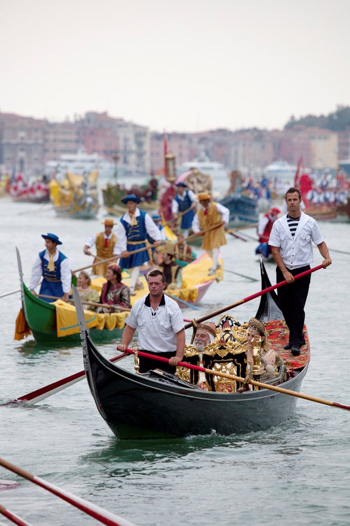 Stock Photo: 1566-1221002 Regata Storica di Venezia, the most important traditional event in Venice, Italy, Europe