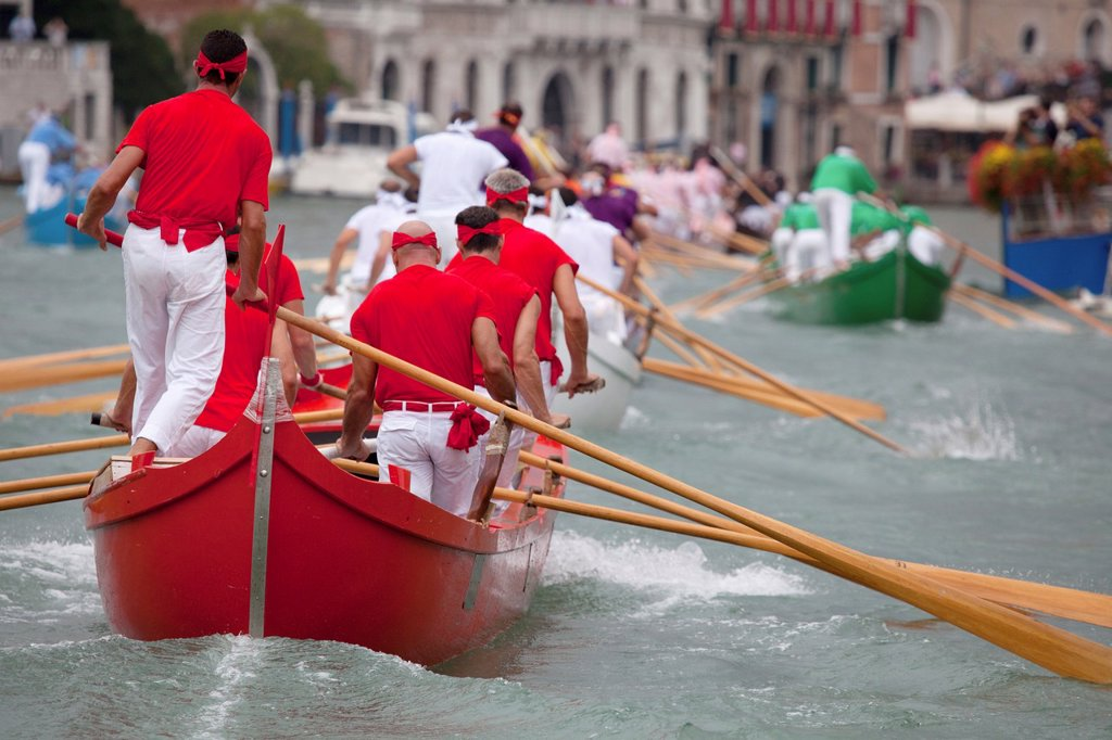 Stock Photo: 1566-1221006 Regata Storica di Venezia, the most important traditional event in Venice, Italy, Europe