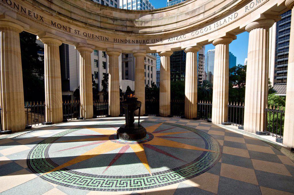 Stock Photo: 1566-1221054 Remembrance Shrine at Anzac Square, Brisbane, QLD, Australia