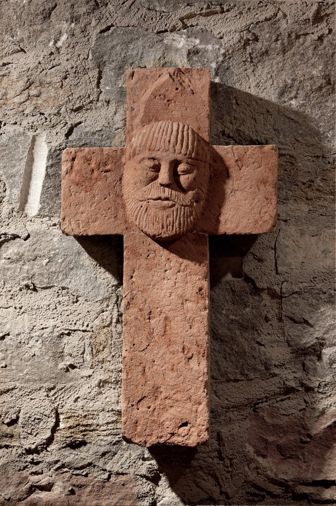Stock Photo: 1566-1221318 Stone Cross, Crypt, Kilian Cathedral, Würzburg, Bavaria, Germany